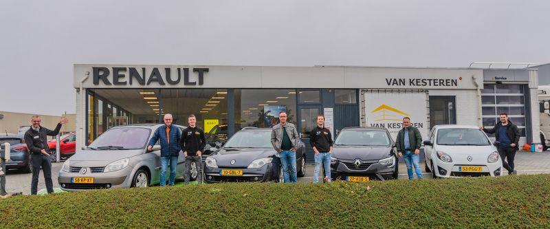 Van opa tot kleinzoons; allemaal fan van Renault én Van Kesteren